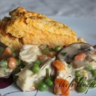 [Recipe] Chicken Pot Pie with Sweet Potato Biscuit Topping