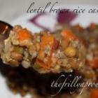 [Recipe] Lentil and Brown Rice Casserole