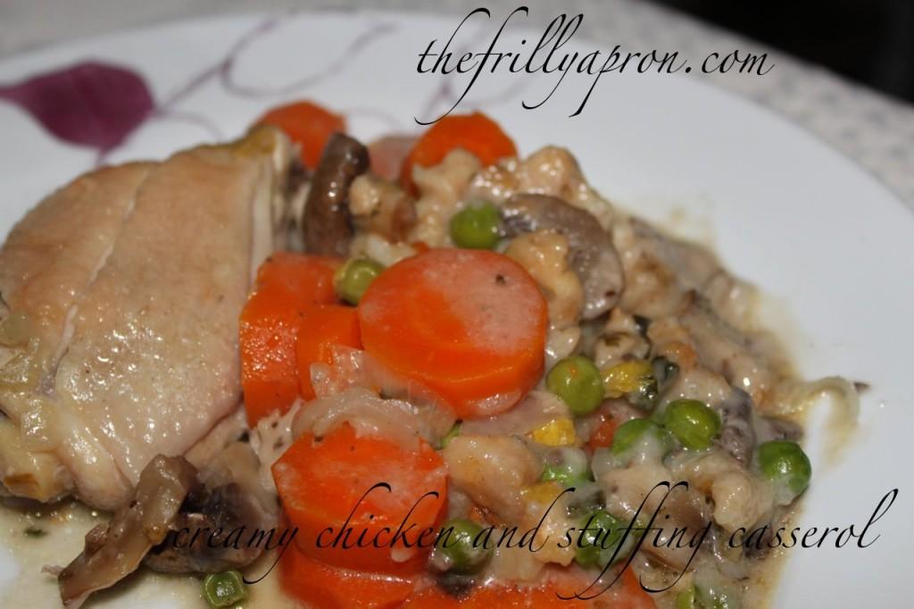 creamy chicken and stuffing casserole