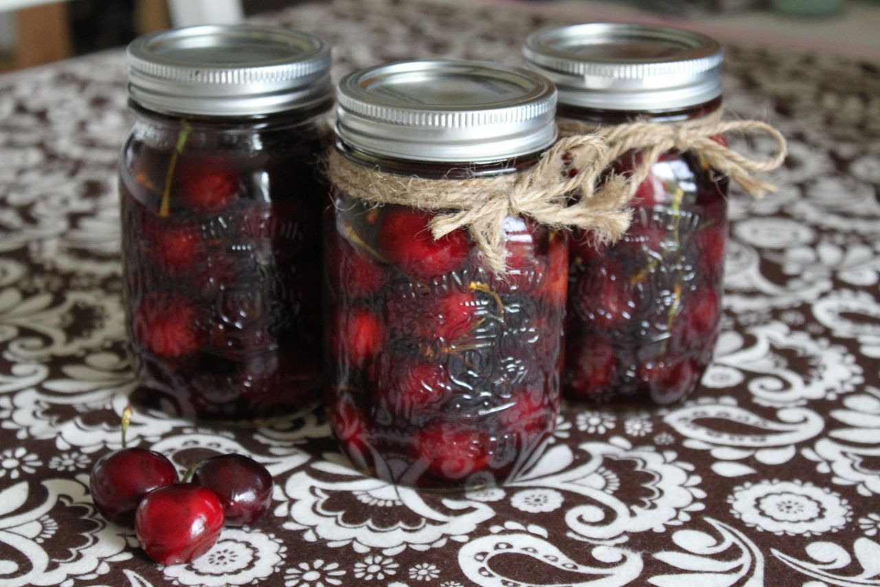 These boozy bourbon soaked cherries can be spooned over ice cream or ...