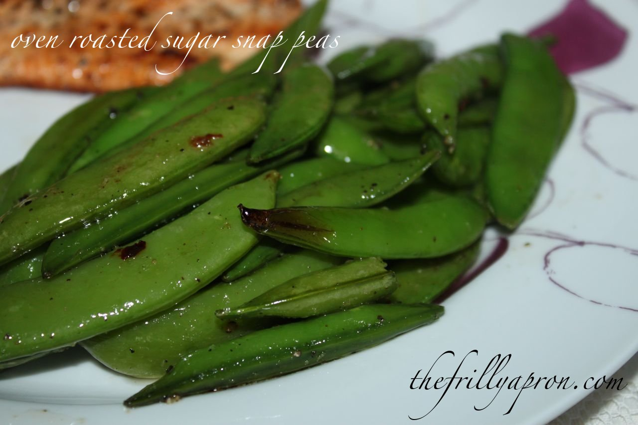 [Recipe] Oven Roasted Sugar Snap Peas