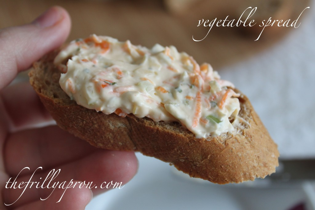 vegetable spread recipe