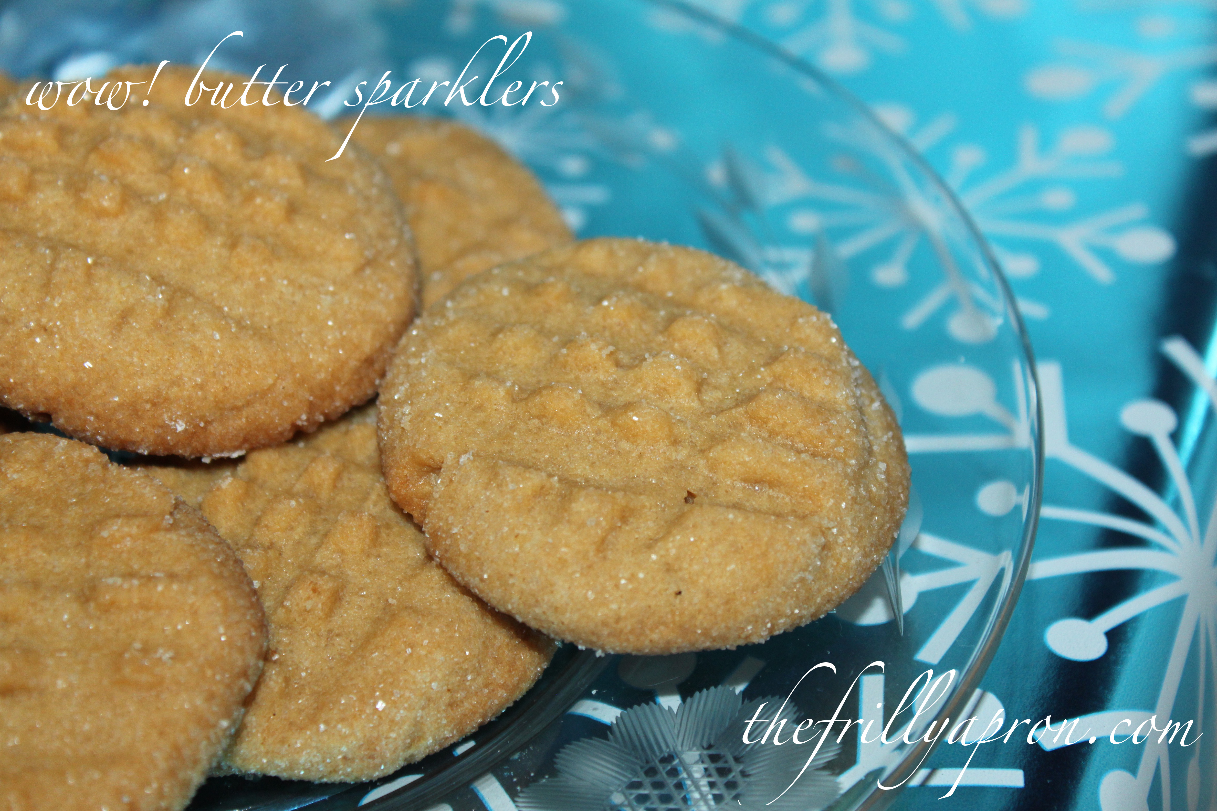 wow butter sparklers cover - Christmas Peanut Butter Cookies